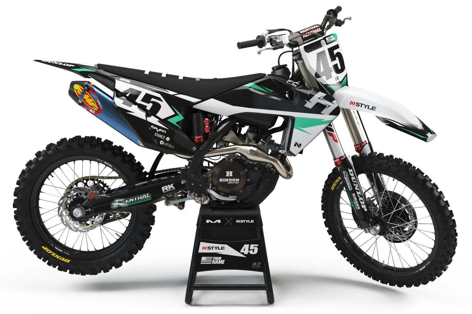 ATTACK Black|White Graphic Kit Husqvarna
