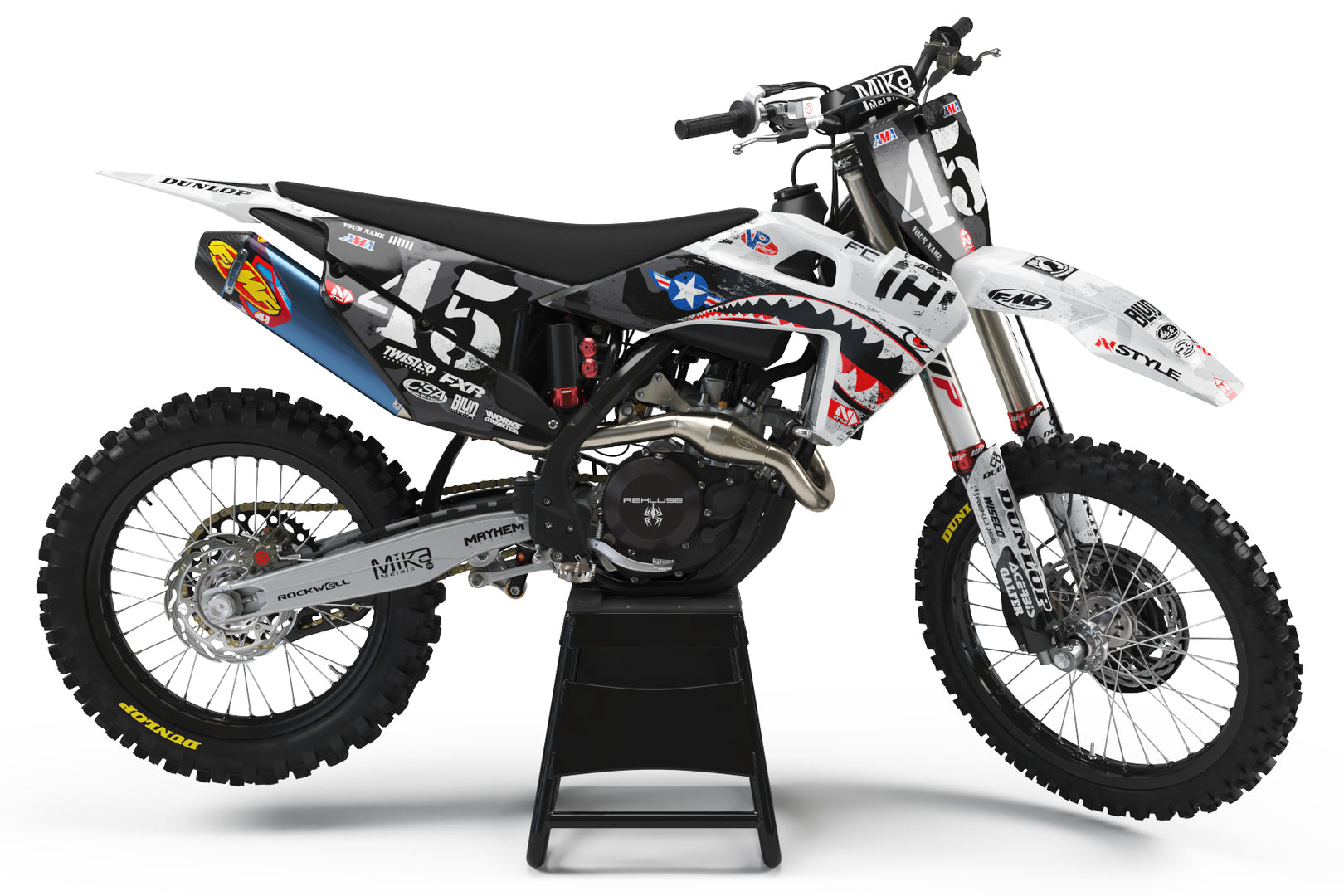 Team AJE Motorsports GRAY Graphic Kit Husqvarna