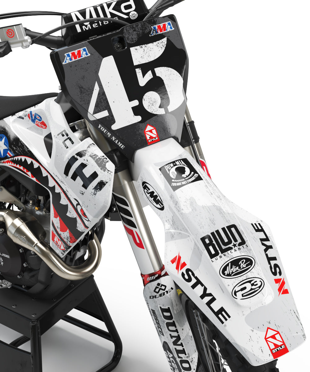 Team AJE Motorsports Military Appreciation GRAY Graphic Kit Husqvarna