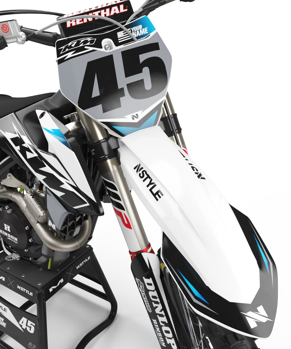 ATTACK White|Grey Graphic Kit KTM
