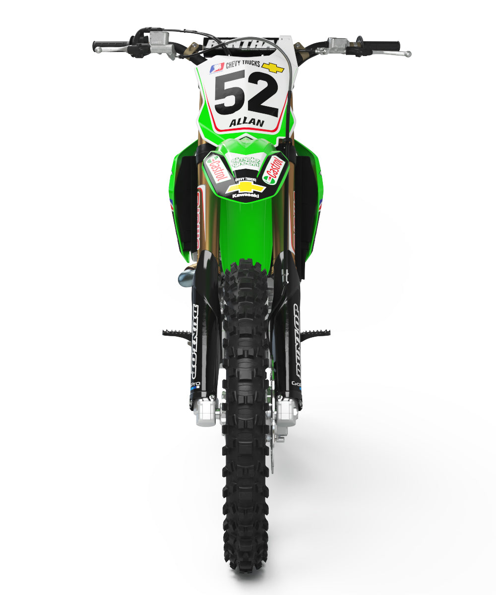 2002 Simple Green Pro Circuit Graphic Kit Kawasaki