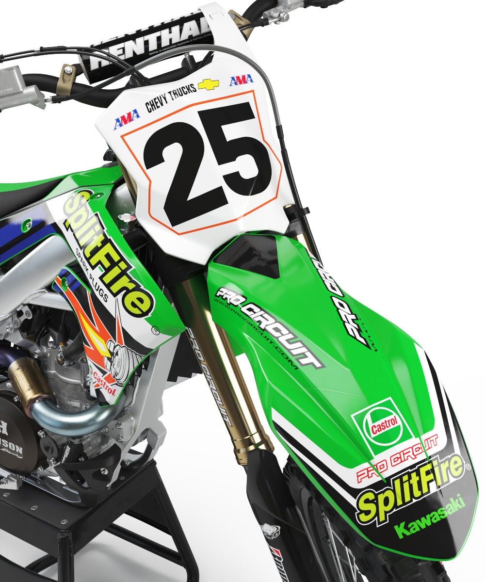 2000 Splitfire Pro Circuit Graphic Kit Kawasaki
