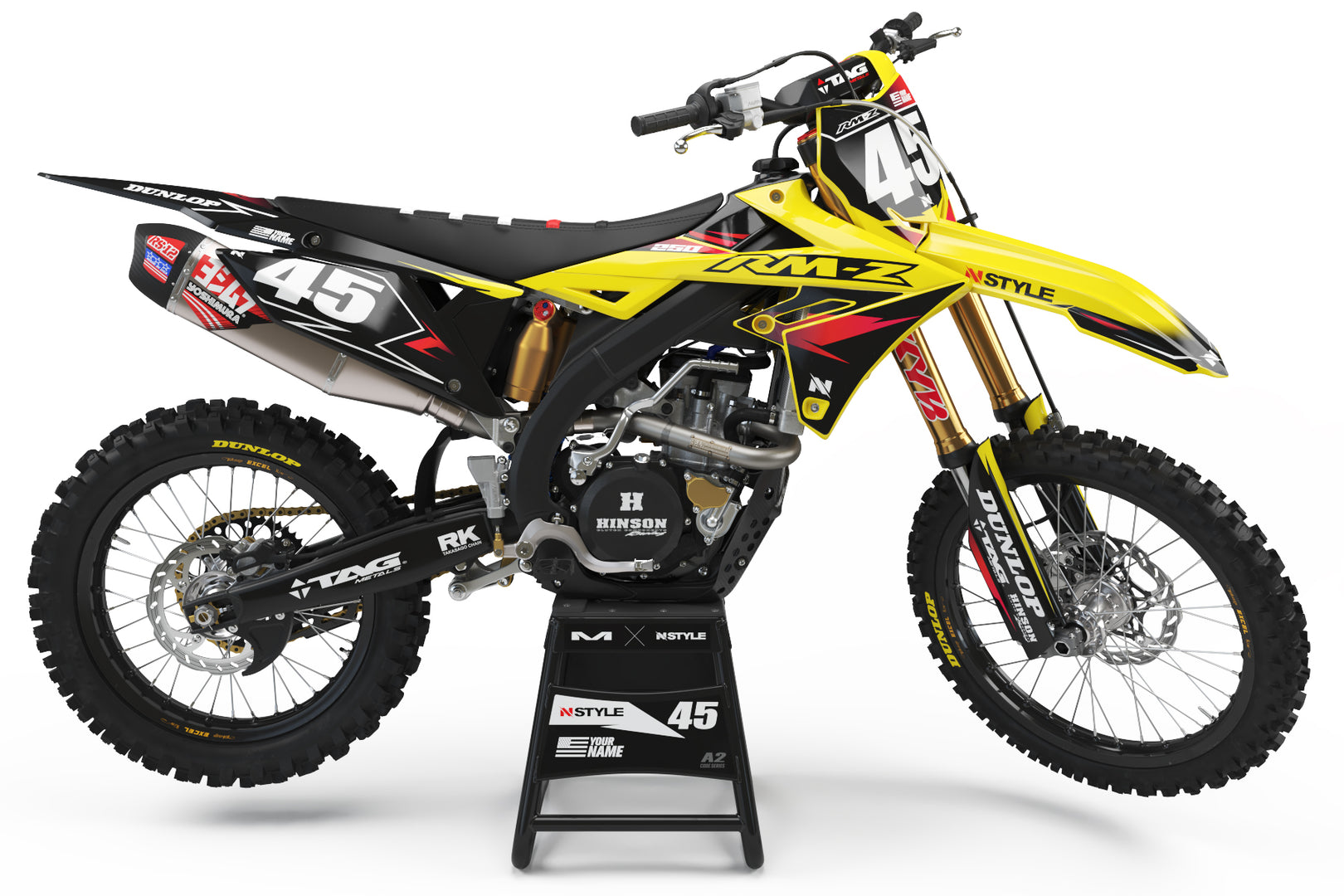 ATTACK Yellow Graphic Kit Suzuki