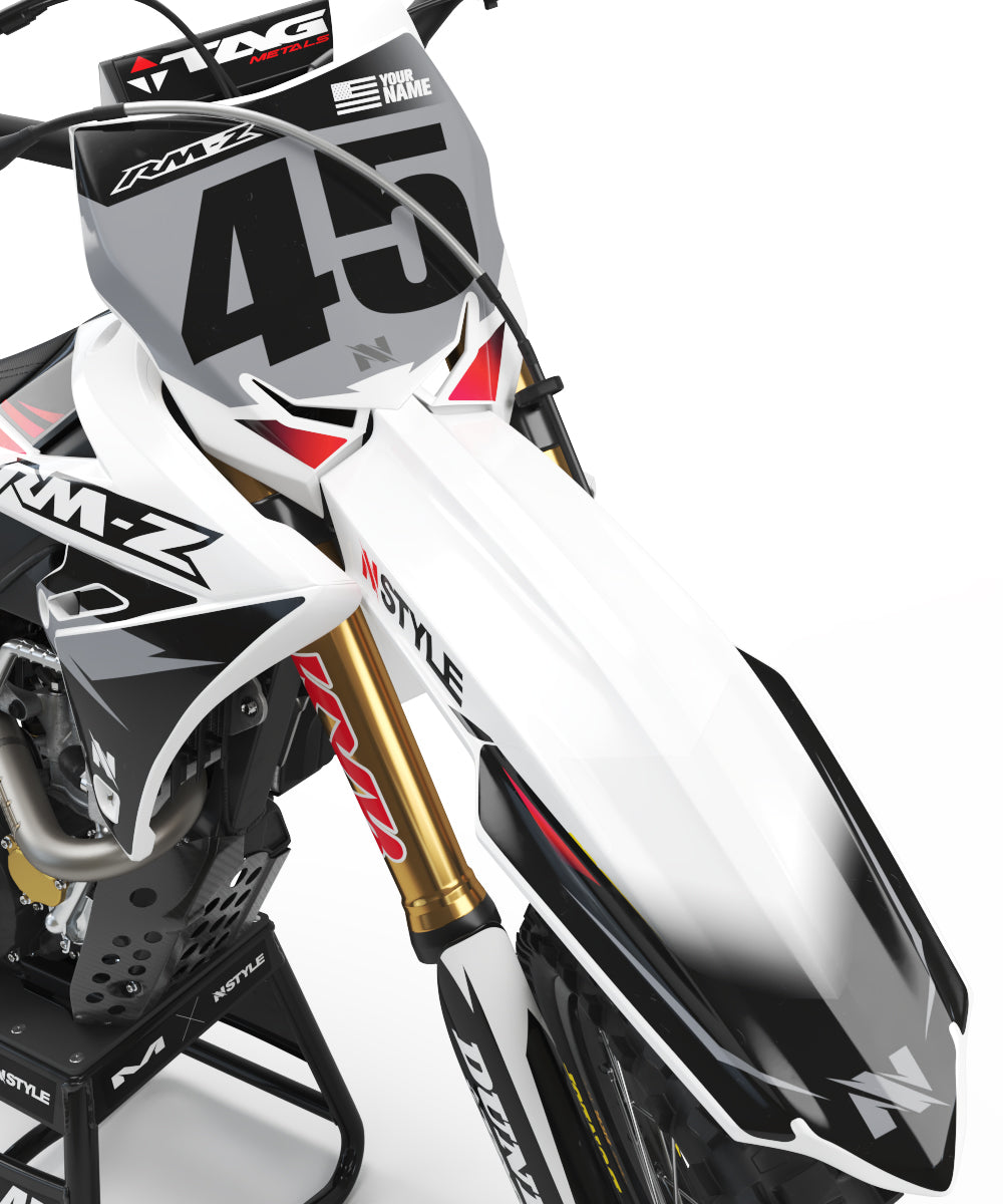 ATTACK White|Grey Graphic Kit Suzuki