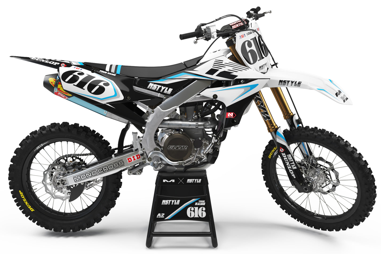 Ready-Made | Stay Rad White Graphic Kit Yamaha