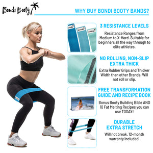Cotton Booty Bands + Free Ebook + Free Carry Bag