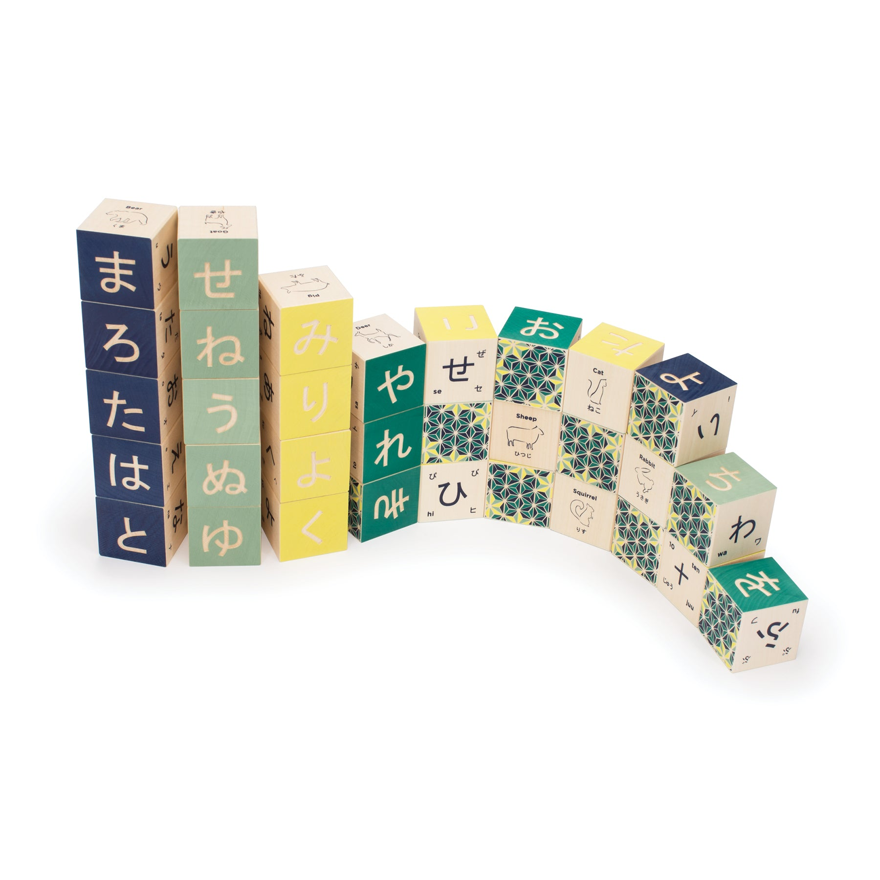 Japanese Blocks, Set of 32