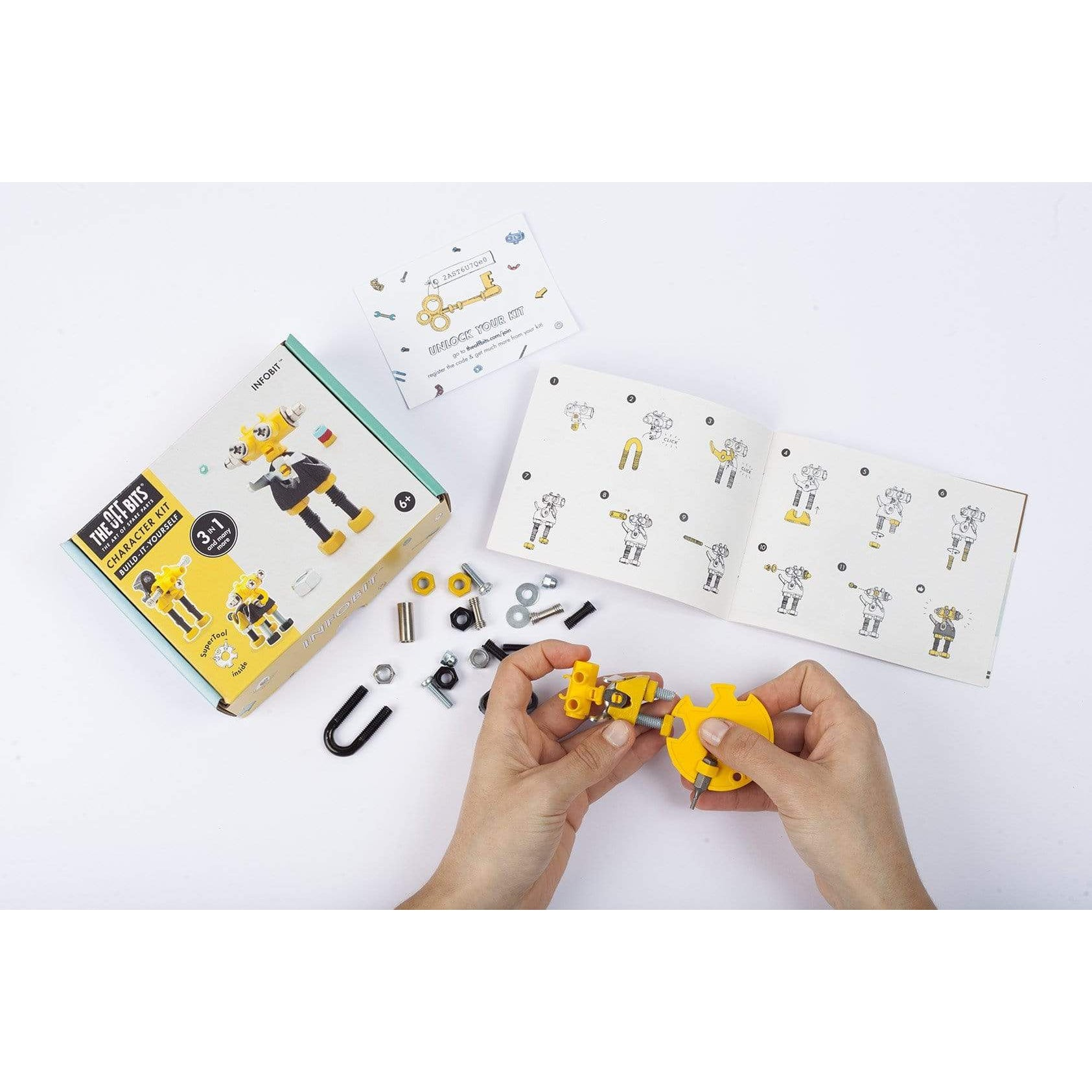 YELLOW 3-in-1 Robot Kit from The OFFBITS