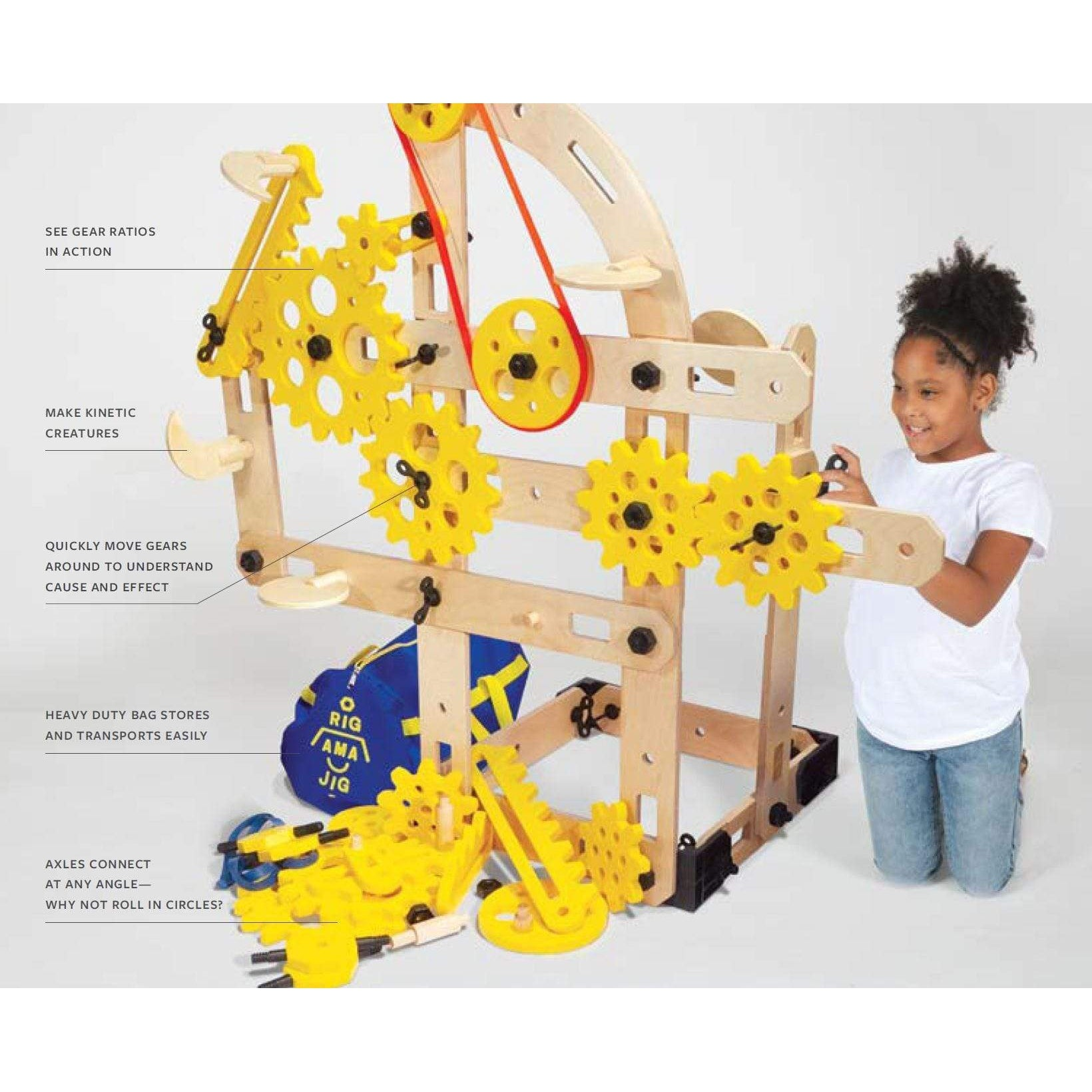 Simple Machines Rigamajig Add-On Kit - 78 Pieces