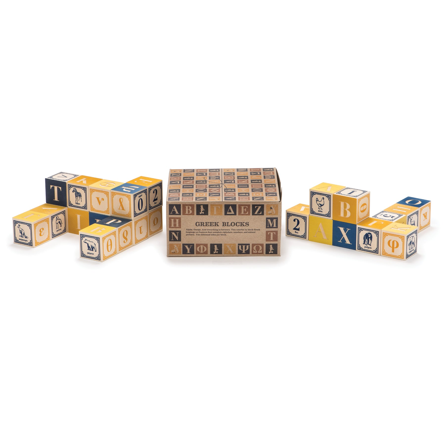 Greek Blocks, Set of 24