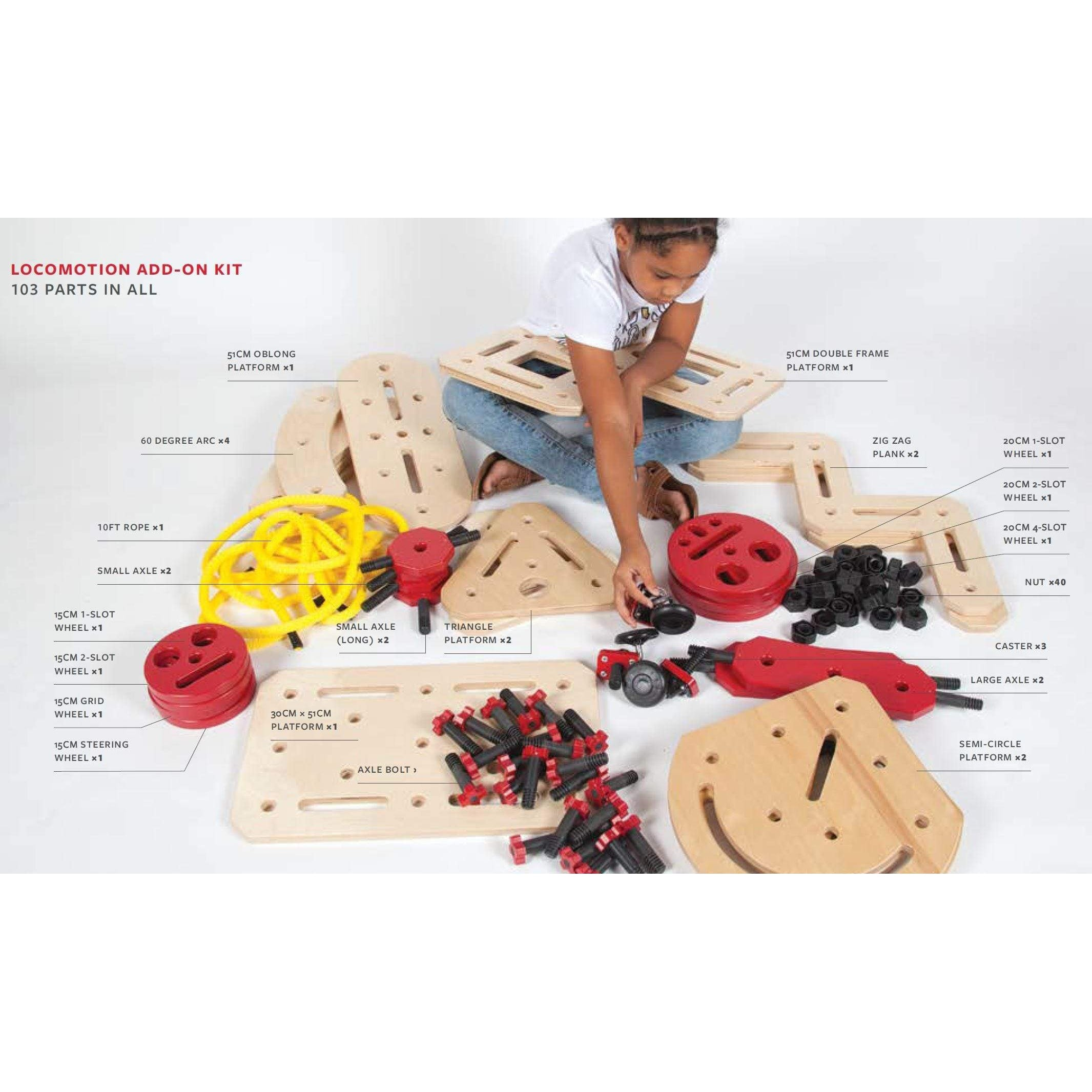 Locomotion Rigamajig Add-On Kit - 103 Pieces