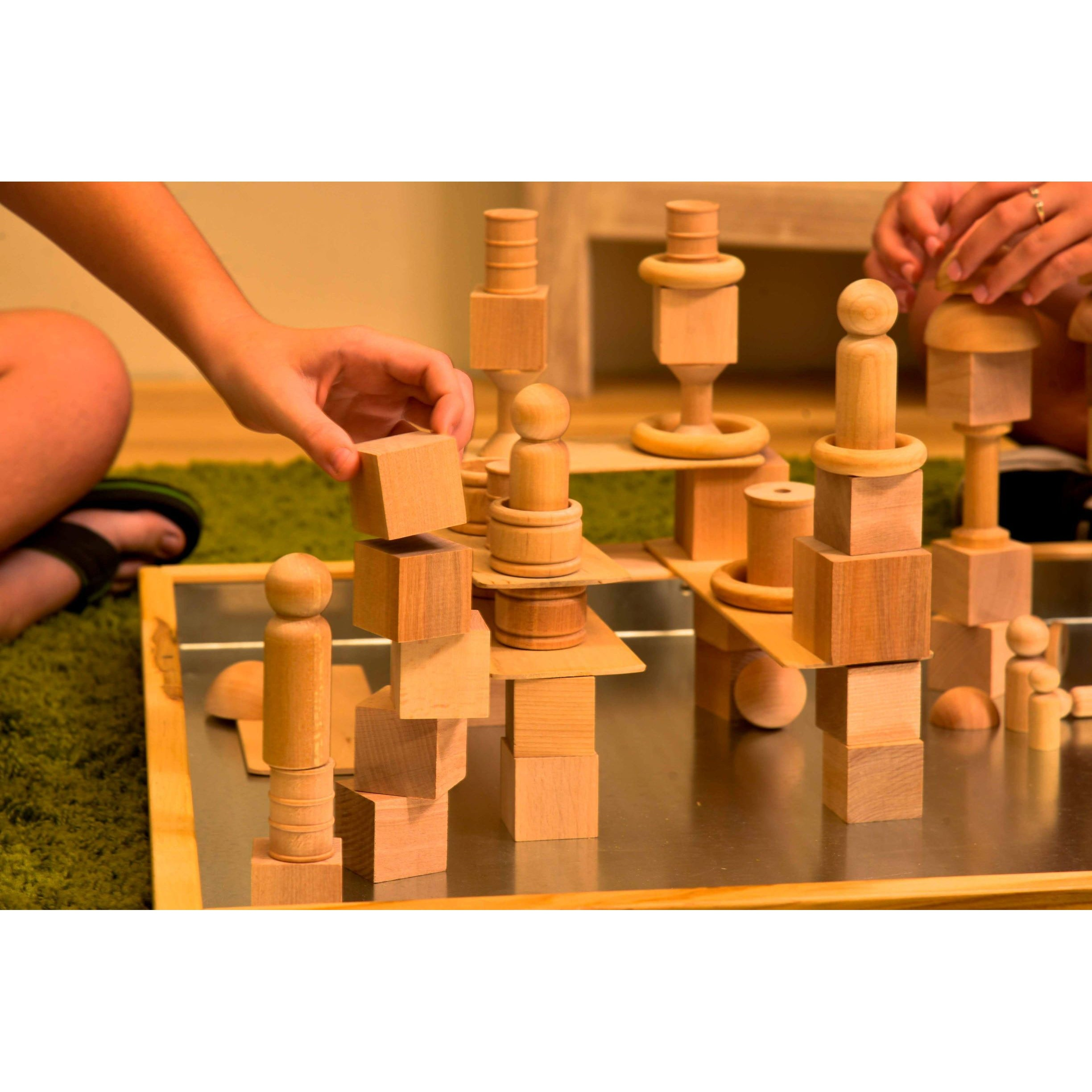 Loose Parts Tower Blocks, set of 75