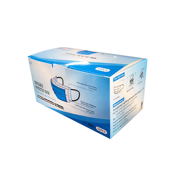 3-Ply Surgical Disposable Masks 50pc Box