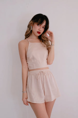 Nouvelle Creme Nude Backless Top