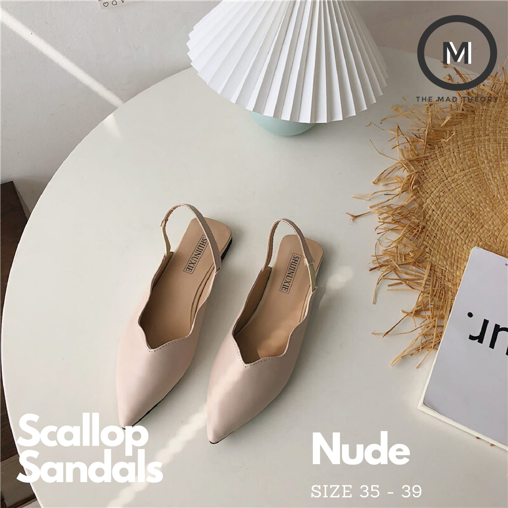 Scallop Sandals (Nude)