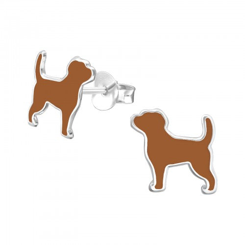 Brown Dog Earrings