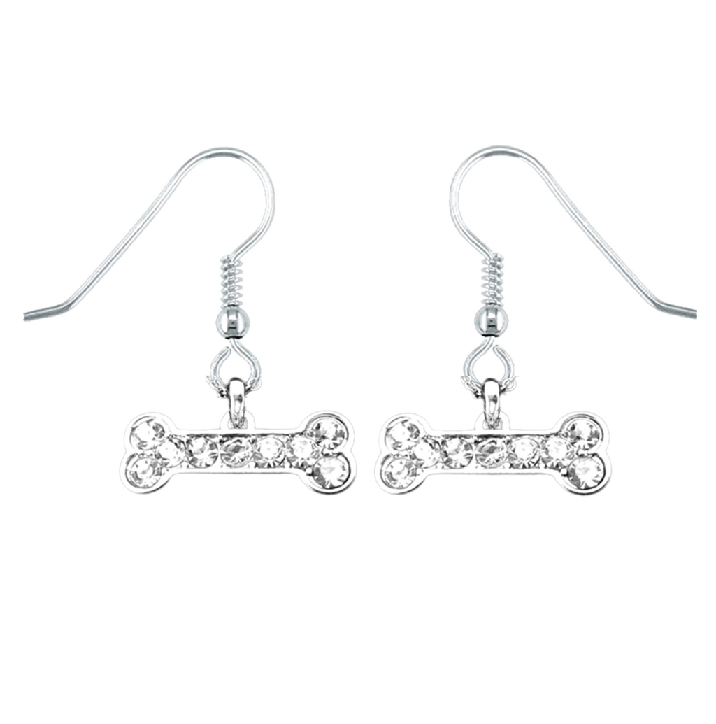 Crystal Bone Earrings