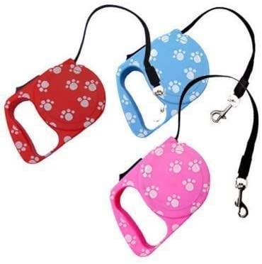 Essential Retractable Dog Lead (Pink)