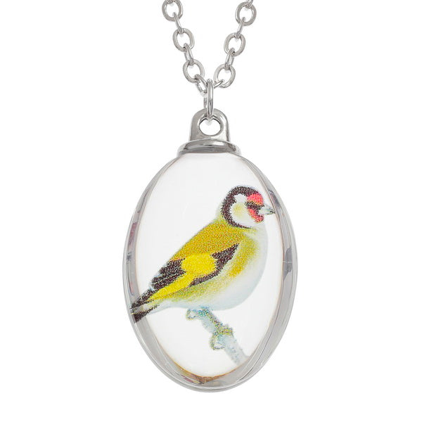 Glass Goldfinch Necklace