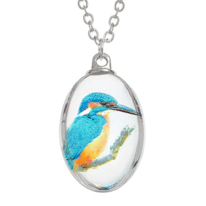 Glass Kingfisher Necklace