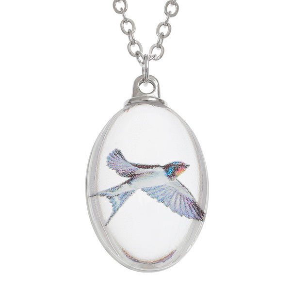 Glass Swallow Necklace