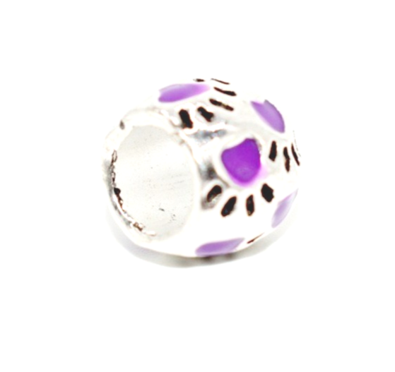 Purple Paws Bracelet Charm