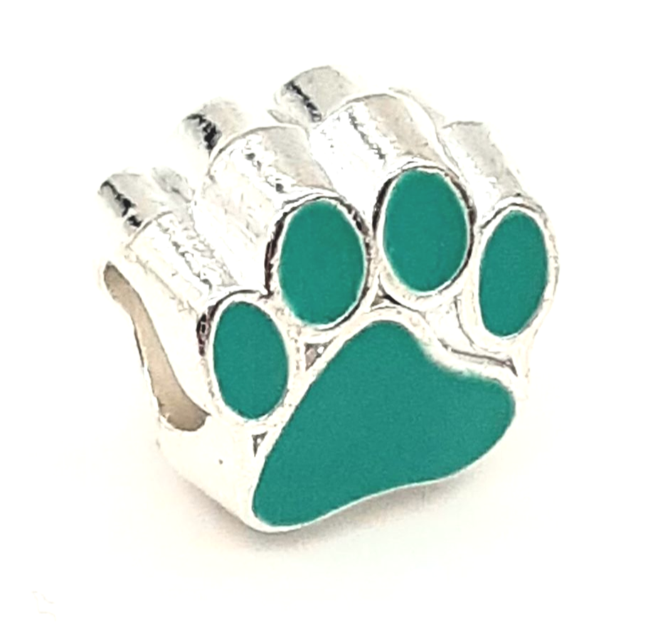 Paws of Love Aqua Green Bracelet Charm