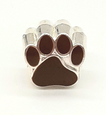 Paws of Love Brown Bracelet Charm