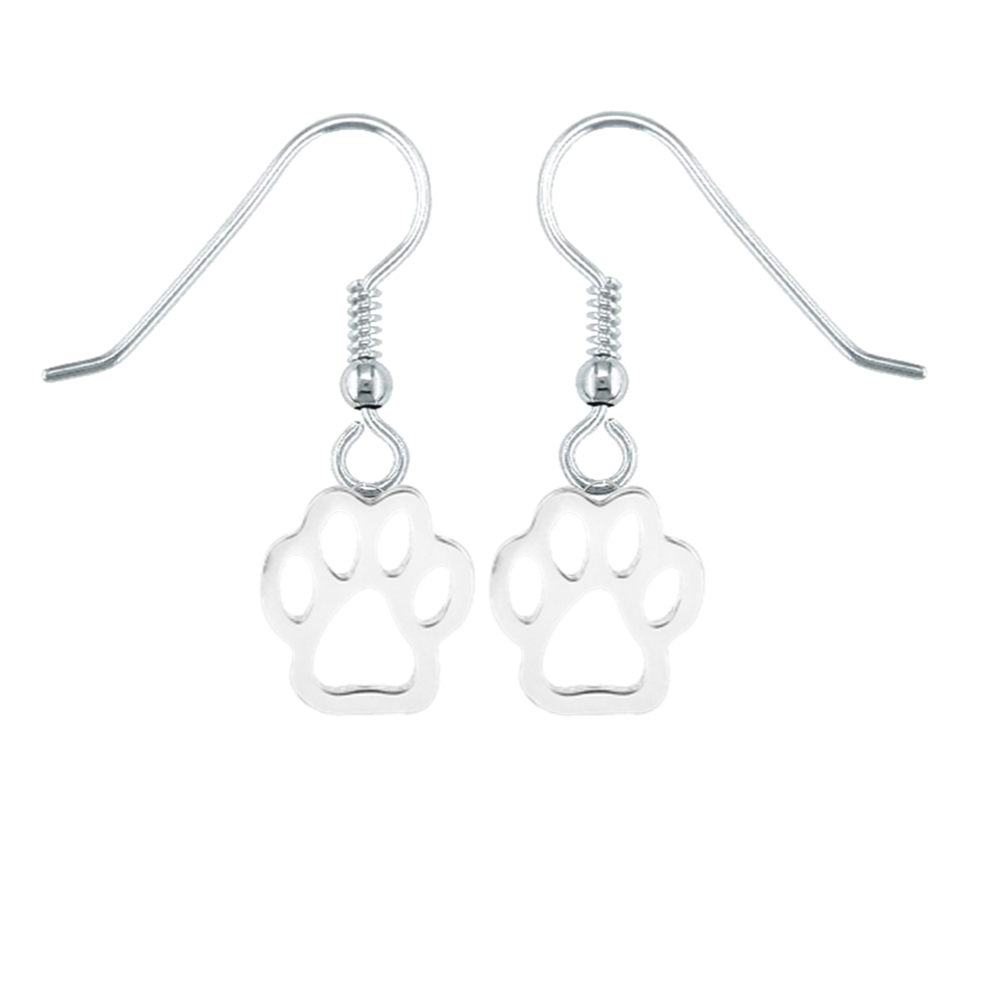 Paw Print of Love Earrings