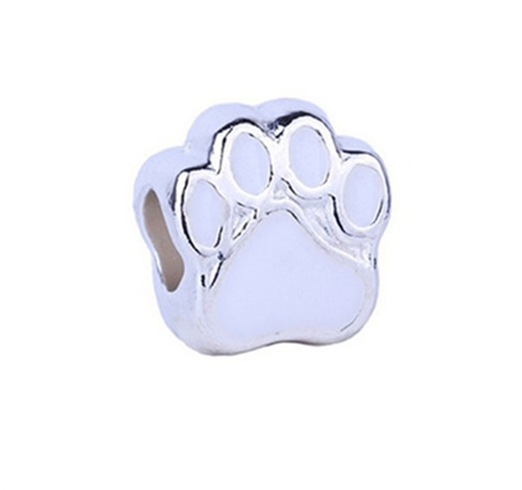 Paws of Love White Bracelet Charm