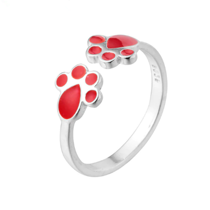 Red Paws Ring