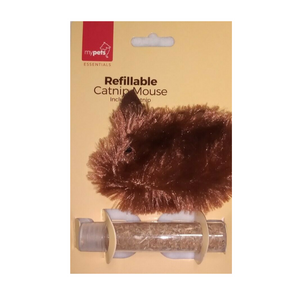 Refillable Cat Nip Mouse Toy (Brown)