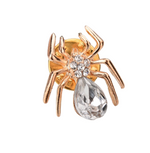 Crystal Spider Pin Brooch