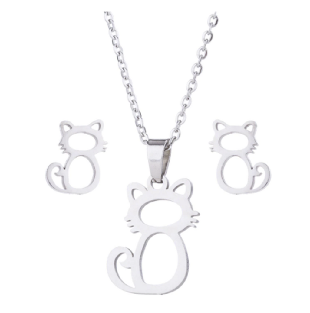 Whiskers of Love Necklace & Earring Set