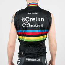 "Wind Vest Black ""WC - Wout Van Aert"" - Veranda's Willems Crelan"