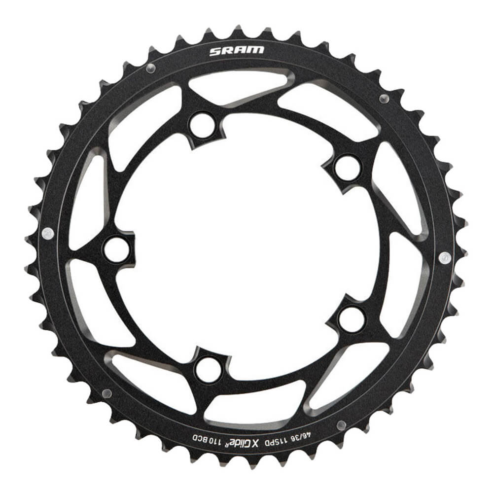 Sram X-Glide 11s Road outer chainring - 110bcd - Black