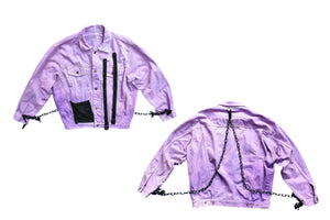 'Harsh Lavender' Denim Jacket