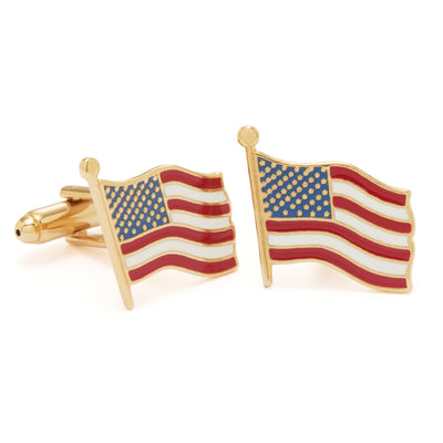 American Flag Cuff Links