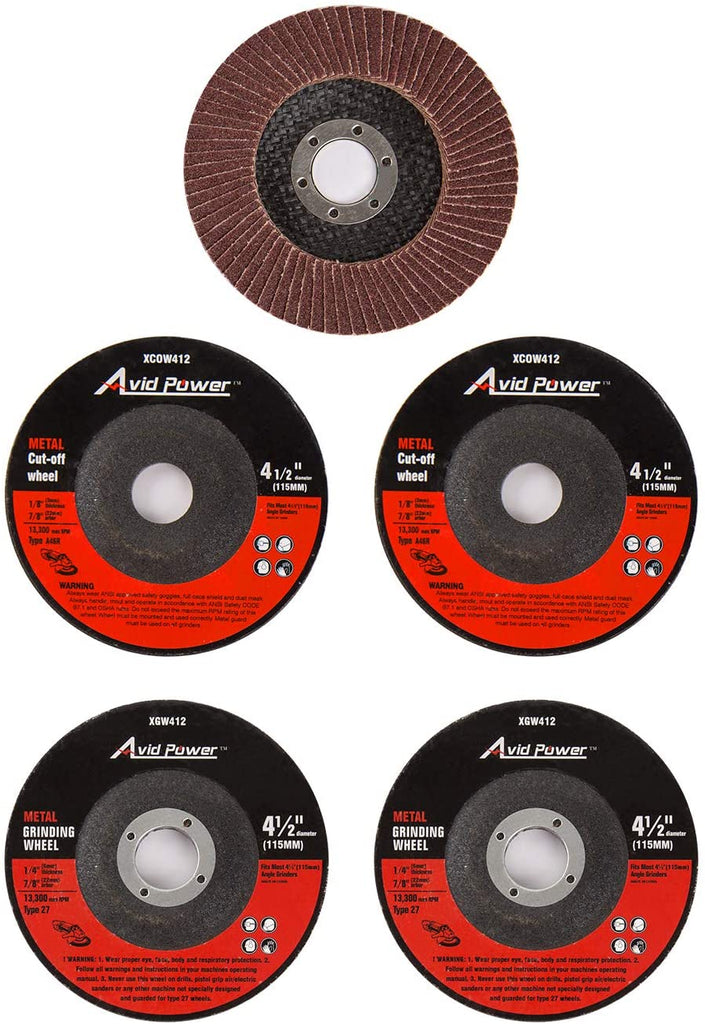 Grinding Wheels, Cutting Wheels and Flap Disc for Angle Grinder (5 pcs)