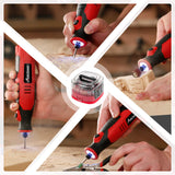 8V Li-ion Cordless Micro Rotary Tool with Five-Speed, 4 Front LED Lights and 60pcs Accessories Kit for Carving, Engraving, Cutting