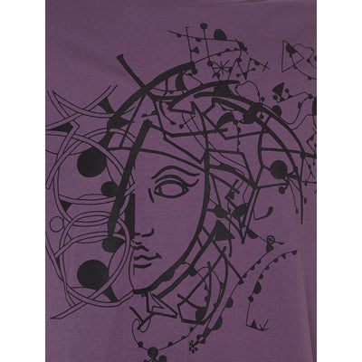 Purple Logo Print T-Shirt