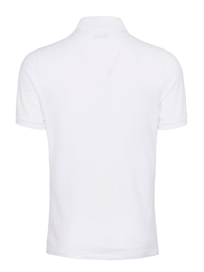 White Contrast Polo Shirt