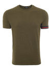 Khaki Marl Arm Band T-Shirt