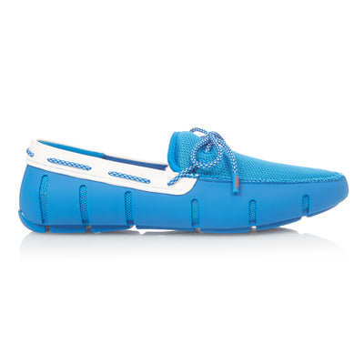 Blue Mesh Lace Loafers