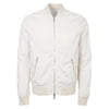 Cream Zip Through Bomber Jacket