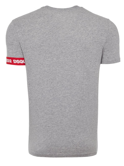 Grey Tape Arm Band T-Shirt