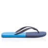 Haston Blue Two-Tone Flip Flops