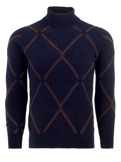 Diamond Roll Neck in Abisso