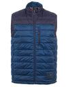 Blue Padded Zip-Through Gilet