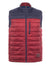 Red Padded Zip-Through Gilet